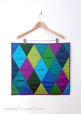 Harlequin Quilt Pattern by www.madebyChrissieD.com