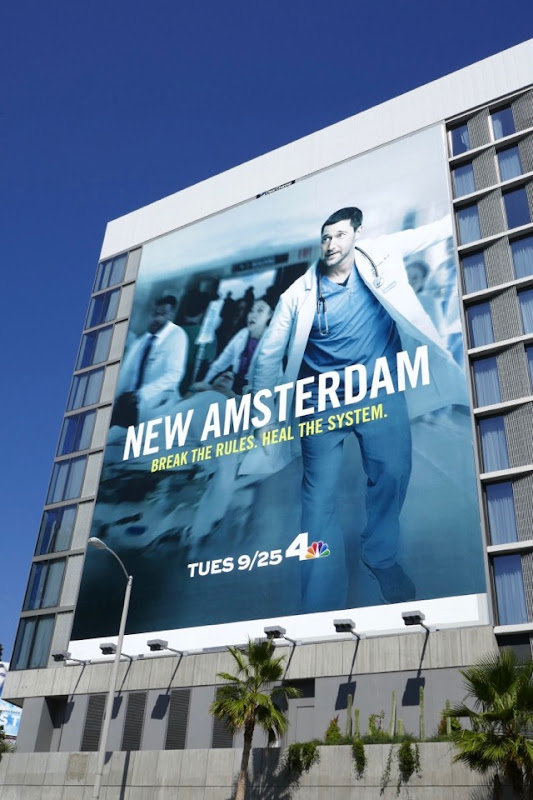 Giant New Amsterdam series premiere billboard