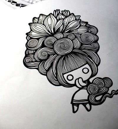 Gambar Doodle Lucu Imut