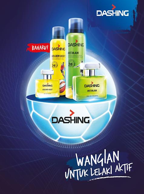 Eau De Toilet dan Deodoran Dashing Sport untuk lelaki Aktif