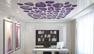 stretch false ceiling for modern office design 2019