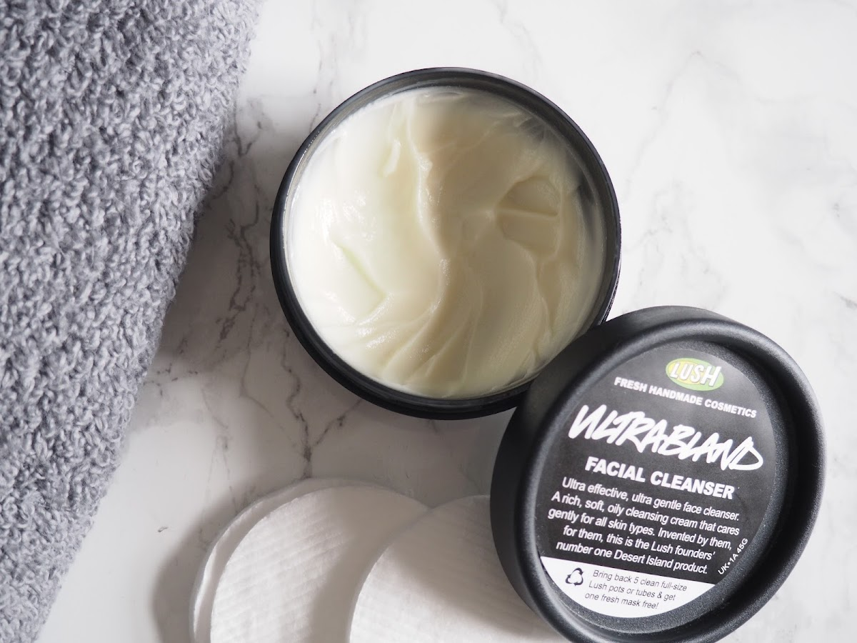 LUSH ultrabland review skincare cleanser natural organic