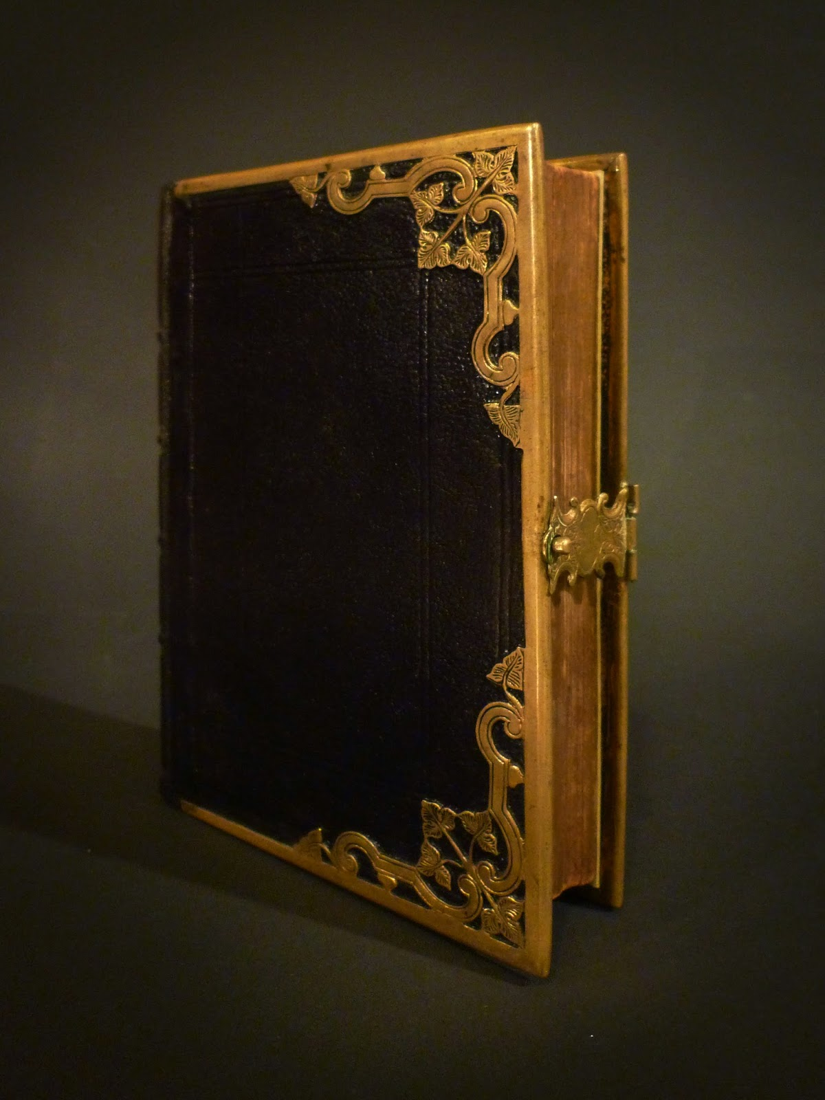 Repair Old Book Cover : Bookbinder s chronicle miniature holy bible w brass