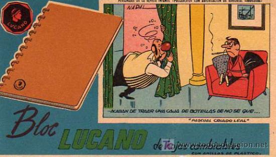 Angel Nadal Quirch dibujó este secante merchandising de Pascual Criado Leal