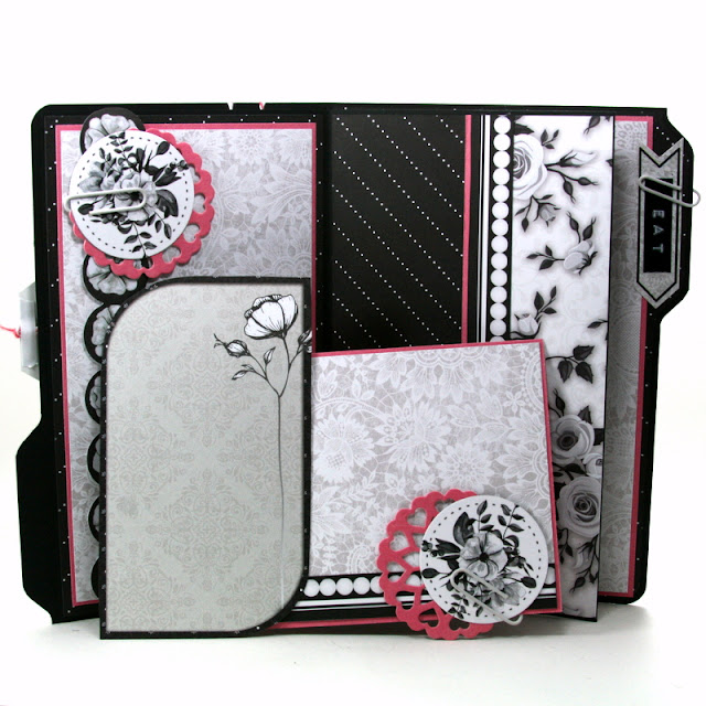 Eat Birthday Cake Birthday Folio Card by Ginny Nemchak for BoBunny using Black Tie Affair and We R Punch Boards