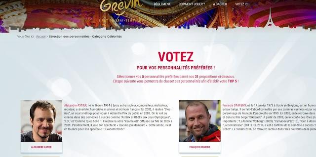 (Culture) On peut voter pour les prochaines personnaités du Musée Grévin