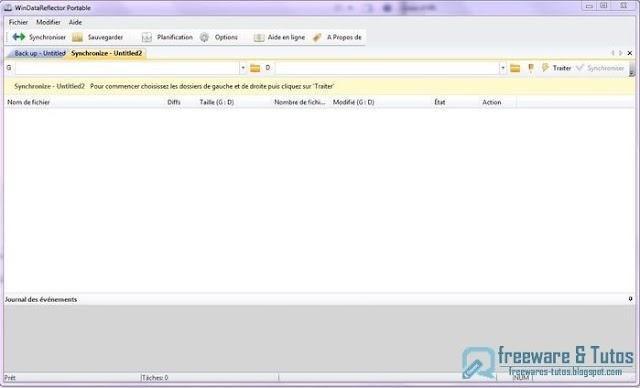 WinDataReflector : un logiciel gratuit de synchronisation et de sauvegarde de fichiers