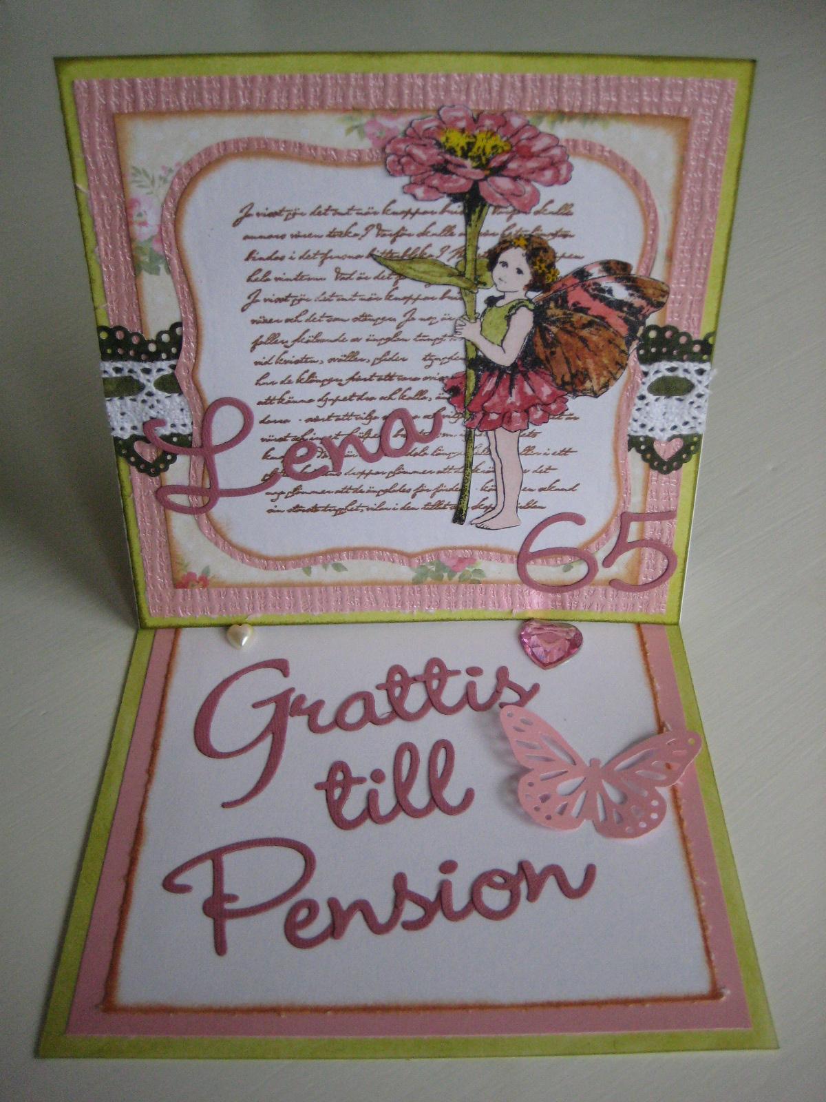 grattis till pensionen text Pysselsandra: Grattis till pension mamma! grattis till pensionen text