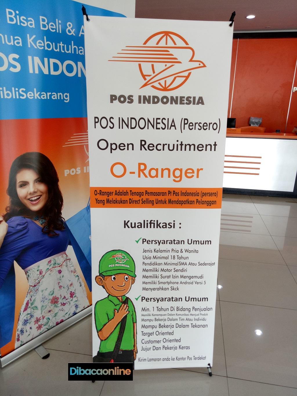 Cara Daftar O-Ranger di PT Pos Indonesia
