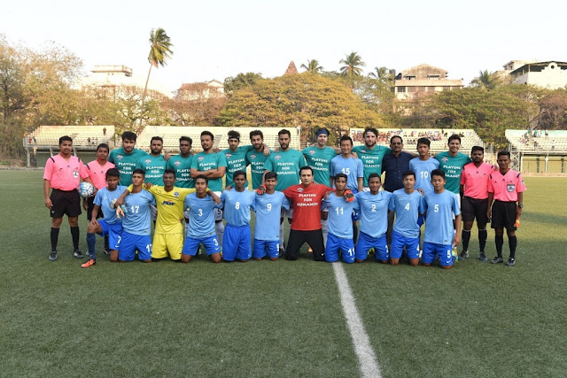 An exhibition match between Baichung Bhutia's team comprising players from the semi-finalist teams and the All Star Football Club