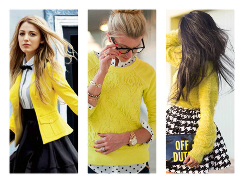 OUTFIT DEL Du00cdA Look con suu00e9ter amarillo inspiraciu00f3n Yellow sweater outfit inspiration