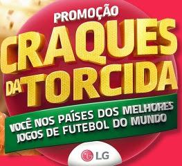 Cadastrar Promoção LG Craques da Torcida 2017 2018 Concorrer Viagens