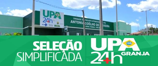 EMPREGO: Vagas abertas para seleção da UPA 24hs de Granja-CE