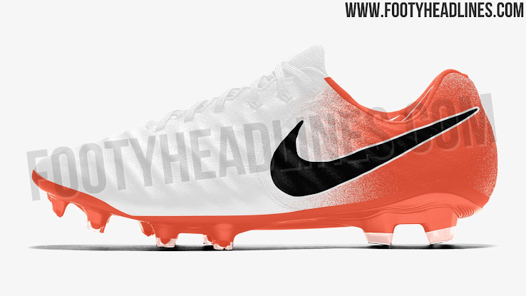 brand new d1ba5 d23a8 White / Orange / Black Nike Tiempo Legend 2019 Boots Leaked ...