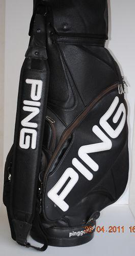 db0a9f046b39 Golftraders Au Ping 10 Staff Golf Bag Black Superb