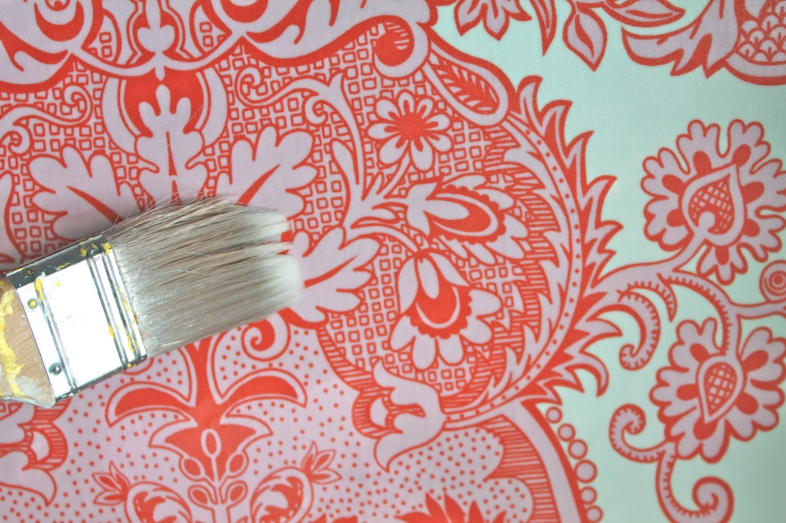 How to Create Fabric Wallpaper | Tauni + Co