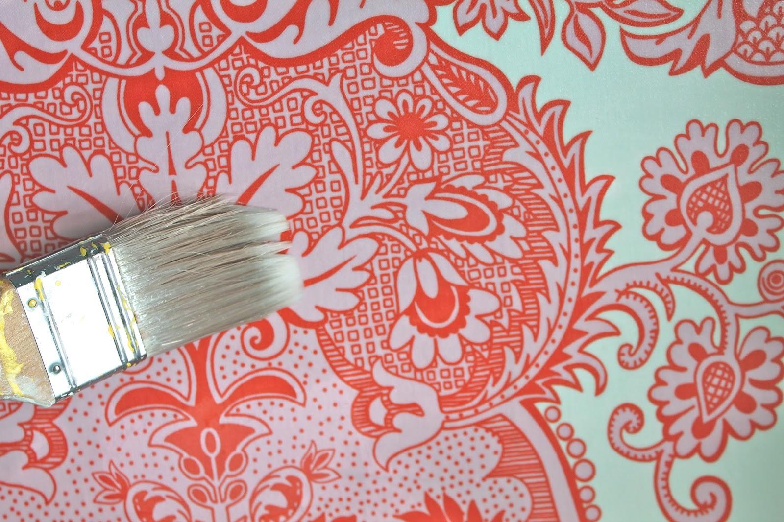 How to Create Fabric Wallpaper | Tauni + Co