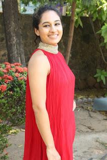 Actress Pooja Ramachandran Pictures in Red Sleeve Less Salwar Kameez at Kalam Movie Trailer Launch  0006.jpg