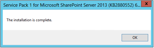 sharepoint 2013 patch installation