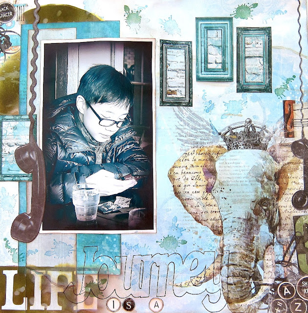 Life Is A journey Layout by Irene Tan using BoBunny Life In Color Collection