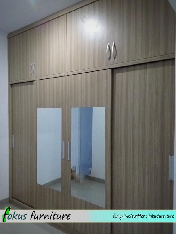 lemari pintu geser dan kitchen set di bintaro kitchen