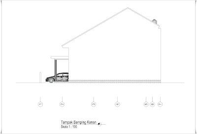 denah rumah 9,5 x 13 m - lahan 10,8 x 17 m ( 2 lantai