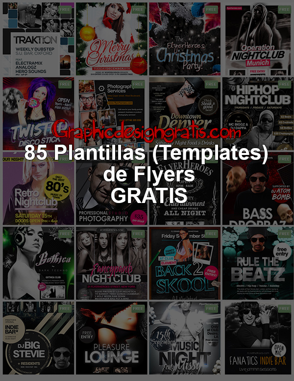 85 Plantillas [Templates] de Flyers para Descarga [Gratis]