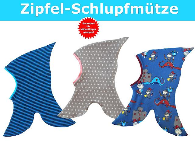 Trash Monstarz® Nähshop : Schlupfmütze Schnittmuster & Nähanleitung