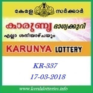 KARUNYA (KR-337) LOTTERY RESULT