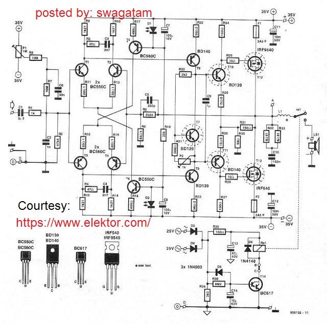 High Power 250 Watt Mosfet Dj Fier