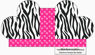 Heart Shaped Open Box in Zebra and Pink.