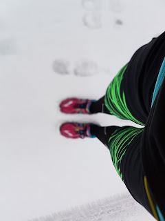 Laufen Silvesterlauf Winter Schnee Schuhe