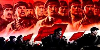 Cartel de propaganda soviética.