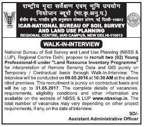 Recruitment of Stenographer, LDC, MTS and Young Professionals in NBSSLUP