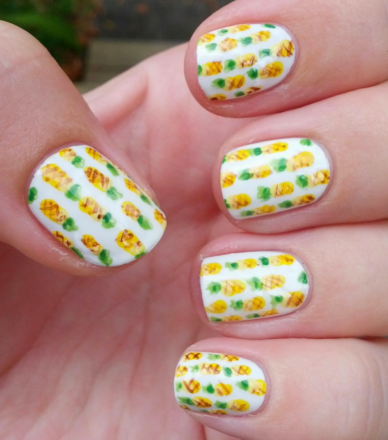 Pineapple nails gallery prinsesfo Image collections