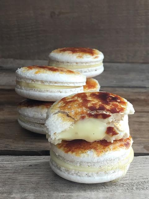 macarons de vainilla y creme brûlée