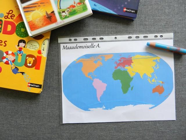 || Petite initiation à la géographie - Kididoc des pourquoi, Kididoc L'espace, Imagier Fleurus Le ciel, planisphère Montessori