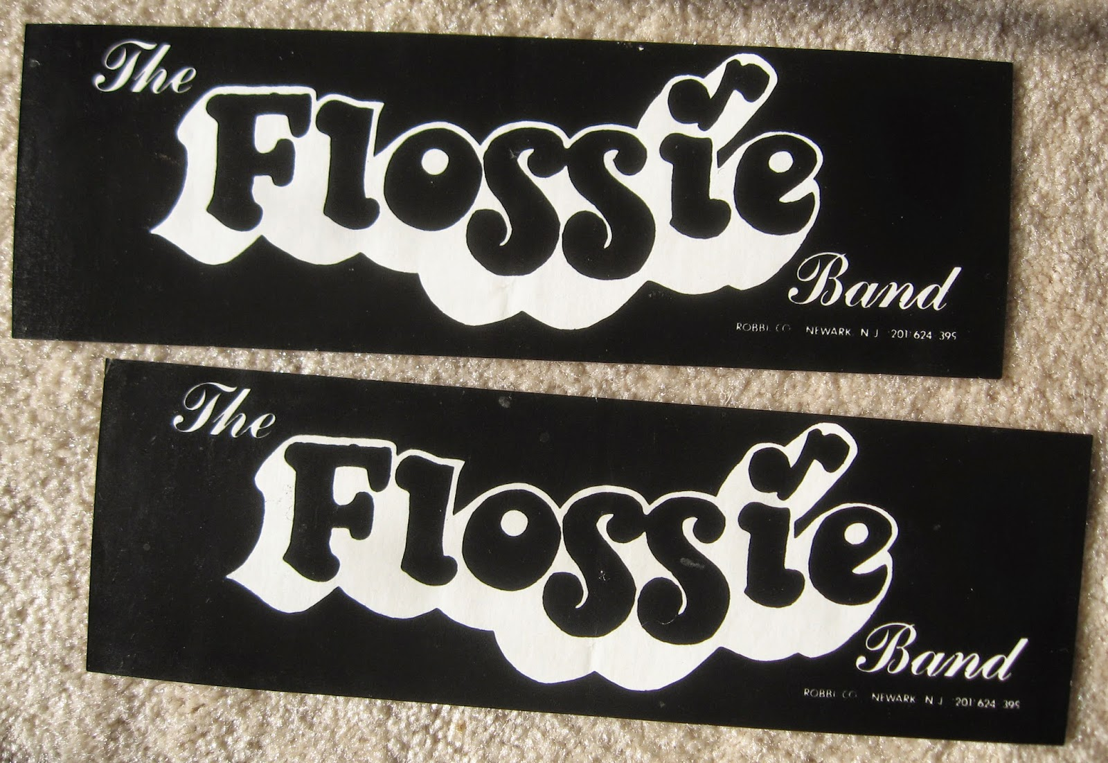 Just found a few Flossie bumper stickers in some of my stuff... pretty neat!