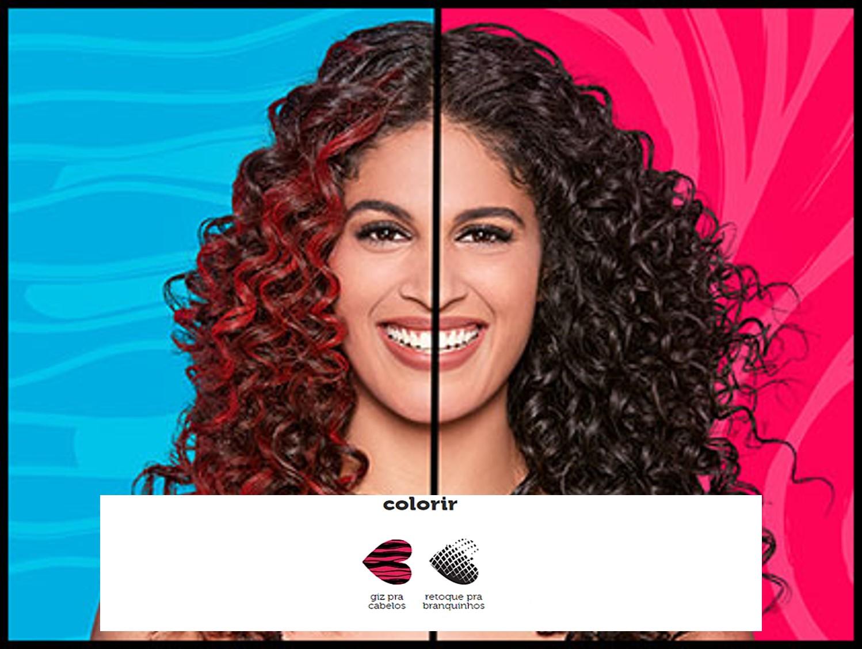 bec760100f Giz para cabelos: Pra cada humor, uma cor! Que tal fazer uma mecha colorida  sem ter que descolorir os fios? Cores intensas e divertidas em um produto  feito ...