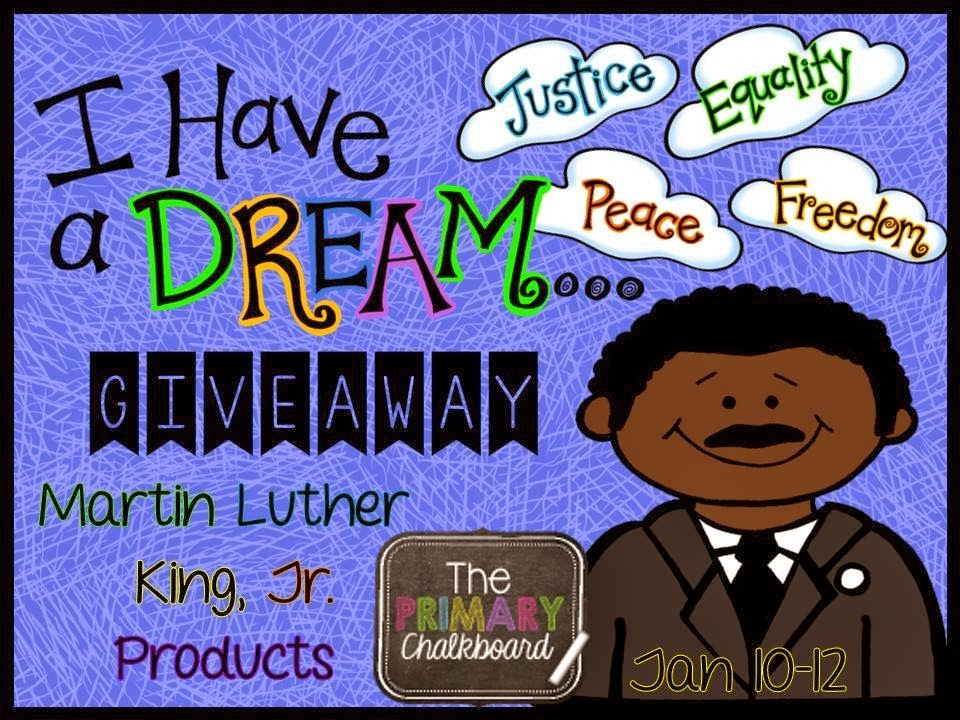 http://primarychalkboard.blogspot.com/2014/01/martin-luther-king-jr-products-giveaway.html