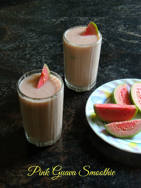 Pink guava smoothie, smoothie with guava