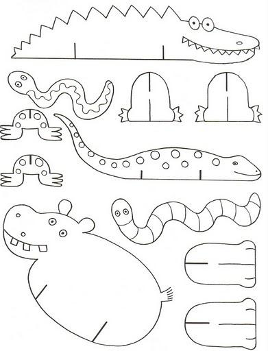 w2 template 2013 - cantinho alternativo animais para imprimir e montar