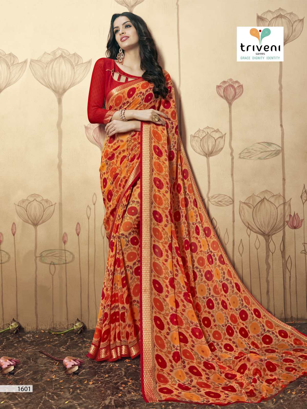 Beverly – Unique Personality Fashionable Printed Saree
