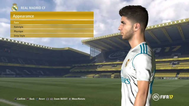 Face Marco Asensio PES 2017