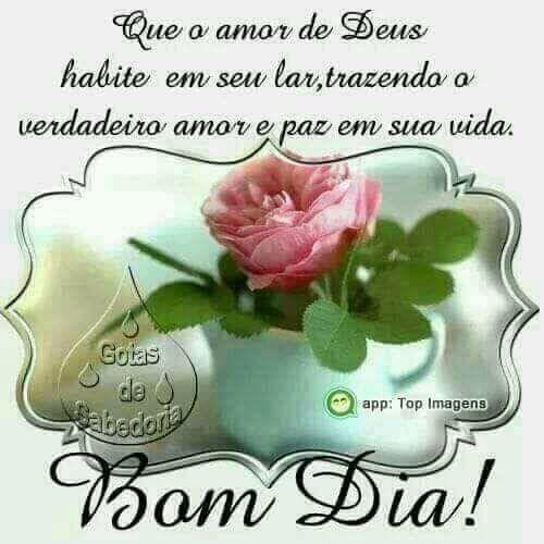 Mensagem De Bom Dia Com Amor De Deus Reflexão Da Mensagem