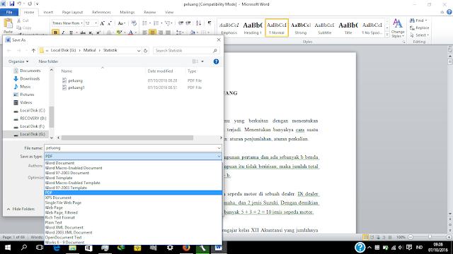 pdf dengan ms word