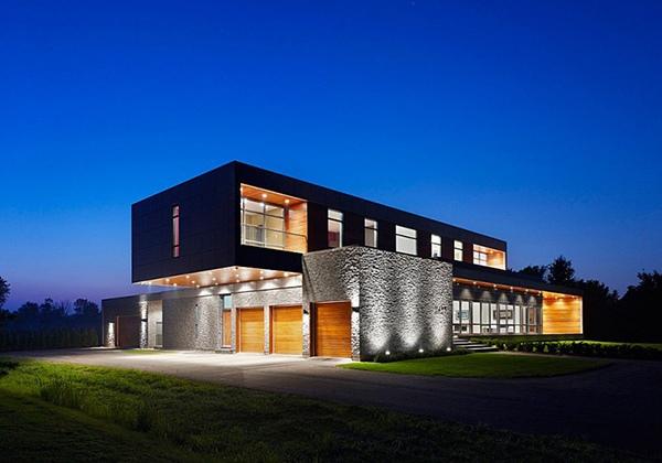Desain Kantilever Rumah Modern Unik
