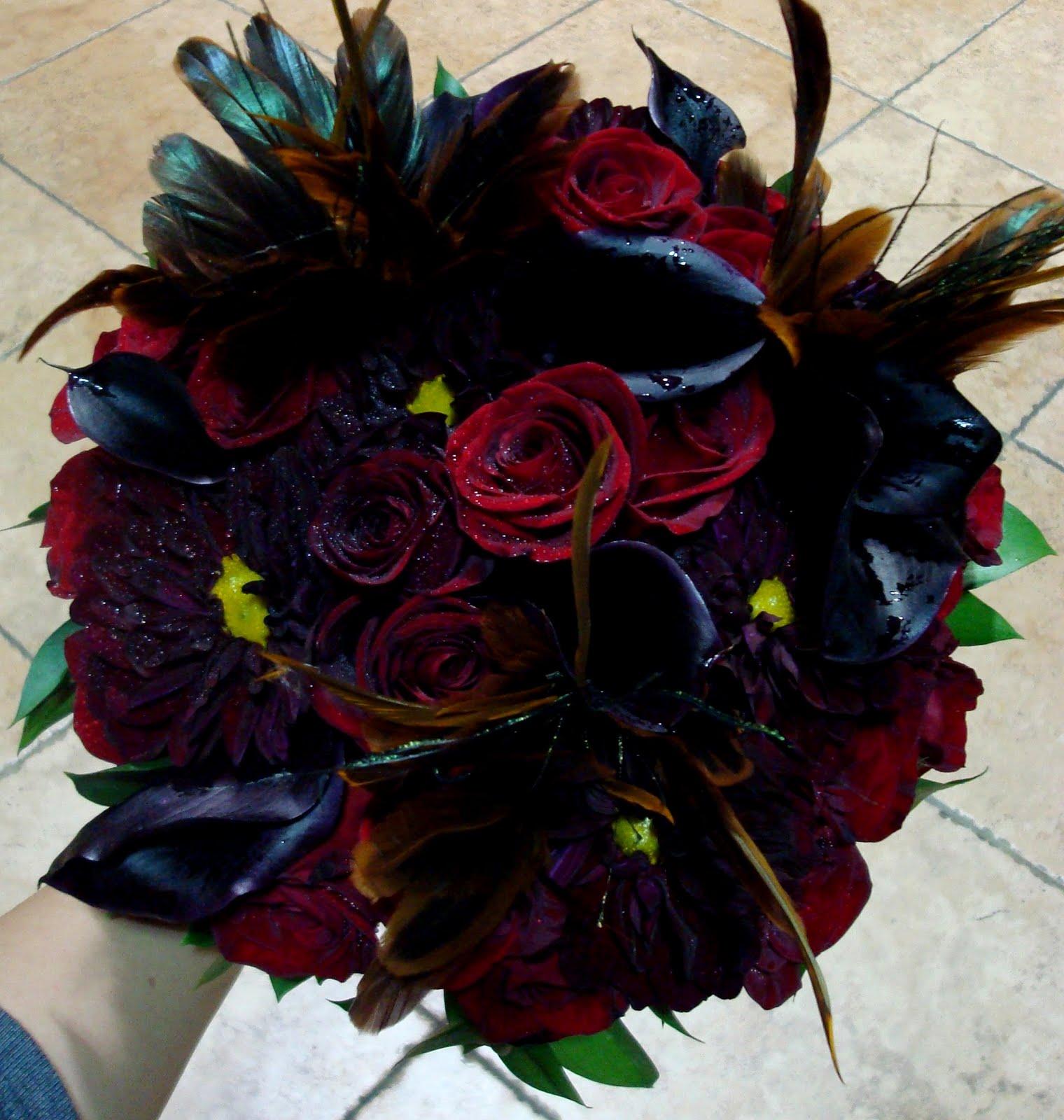 bernardo 39 s flowers halloween wedding bouquet