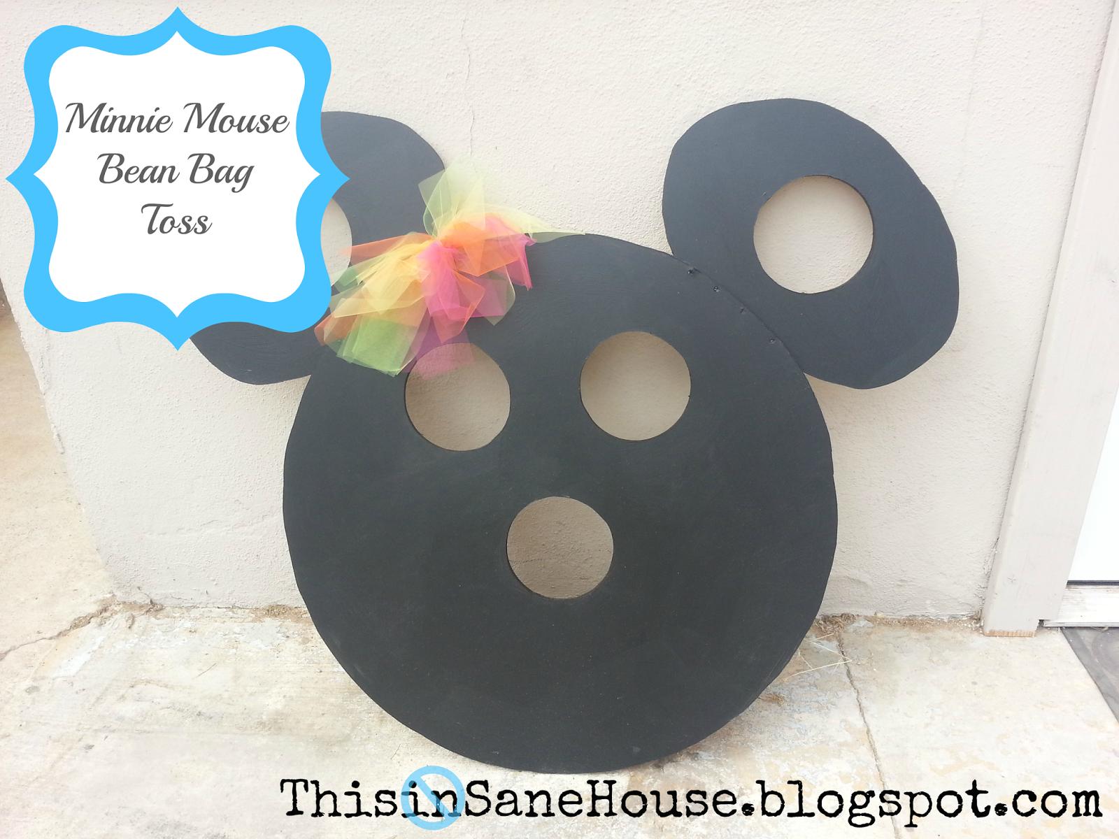 This Insane House Minnie Mouse Bean Bag Toss