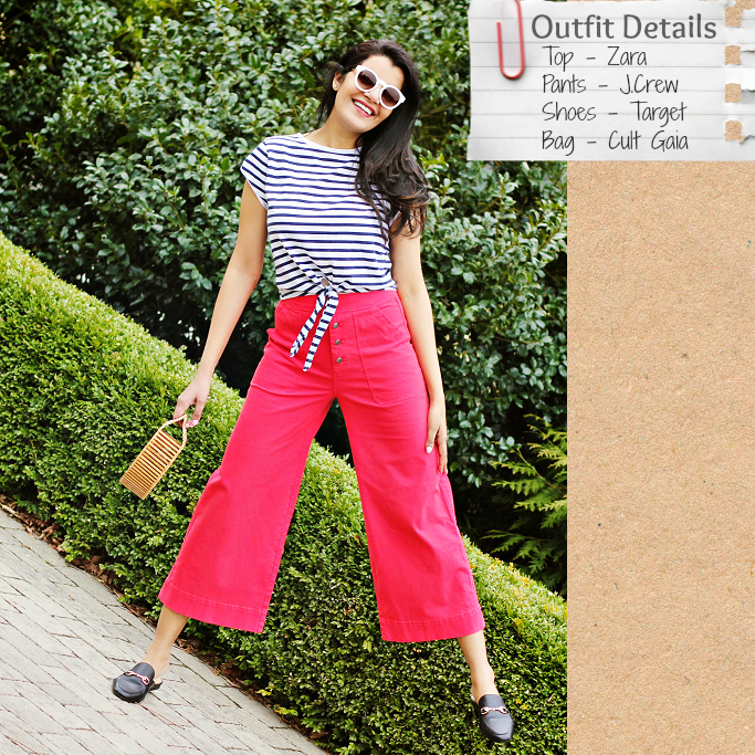 How To Get A Nautical Look, J.Crew Wide Legged Cropped Chinos, Red Wide Leg Pants, Target Kona Mules, Gucci Loafer Mules Dupes, Style Delights Blog